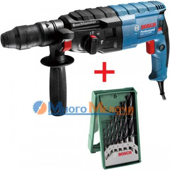 Перфоратор Bosch GBH 2-24 DFR (+Набор сверл 7 шт)
