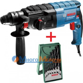 Перфоратор Bosch GBH 2-24 DRE (+Набор сверл 7 шт)