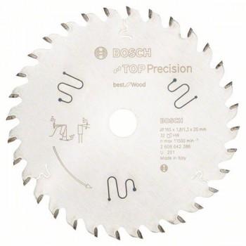 Пильный диск Bosch Top Precision Best for Wood 165х20 мм 32 зуба