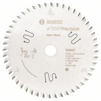 Пильный диск Bosch Top Precision Best for Wood 165х20 мм 48 зубьев