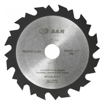 Диск пильный S&R Meister Power Cut 190x30x2,6 мм