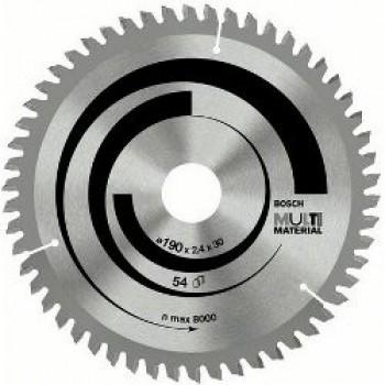 Диск пильный Bosch Multi Material 190 Z54, посадка 30