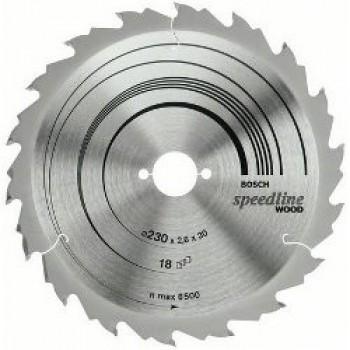 Диск пильный Bosch Speedline Wood 160 Z18, посадка - 16мм
