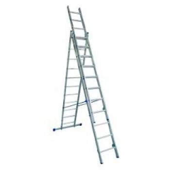 Лестница алюминиевая 3-х секционная Elkop VHR H3х8
