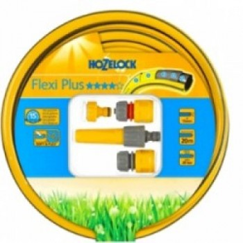 Шланг в наборе соединителями и наконечником  Hozelock Flexi Plus